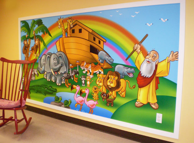 Children's Church Classroom Designs http://childrensministryvault.com/ministry-lessons-ideas-training/1809/bible-story-murals-a-tour-through-bible-history/