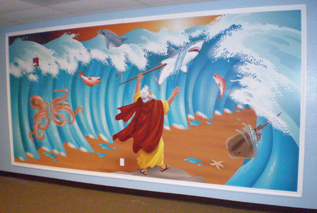 History Classroom Decoration Ideas ~ Bible story murals a tour through history how to